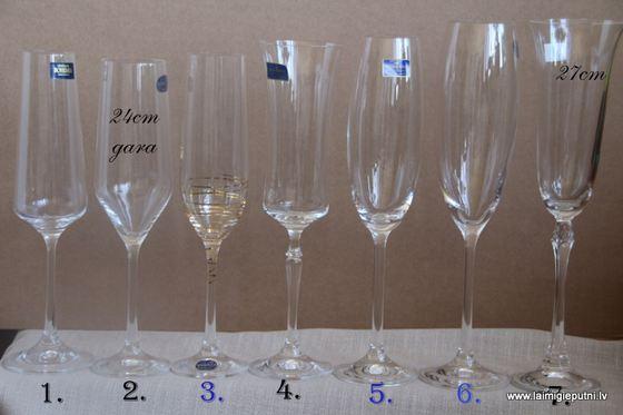 Nr.1 Glāžu piedāvājums. Ar ziliem cipariem norādītās glāzes ir dārgākas,  +2 eur pie norādītās/gala cenas. nr.7 nav patreiz