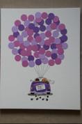 K16. Auto ar baloniem. Krāsas pēc jūsu izvēles.