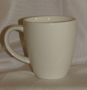 Baltās keramikas krūze